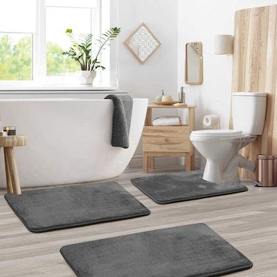 Clara Clark Memory Foam Bath Mat (Set of 3)