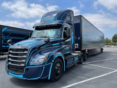 The Freightliner eCascadia