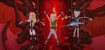 rick and morty season 5 hellraiser bondage