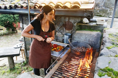 Top Chef host Padma Lakshmi also hosts online cooking classes on IGTV.
