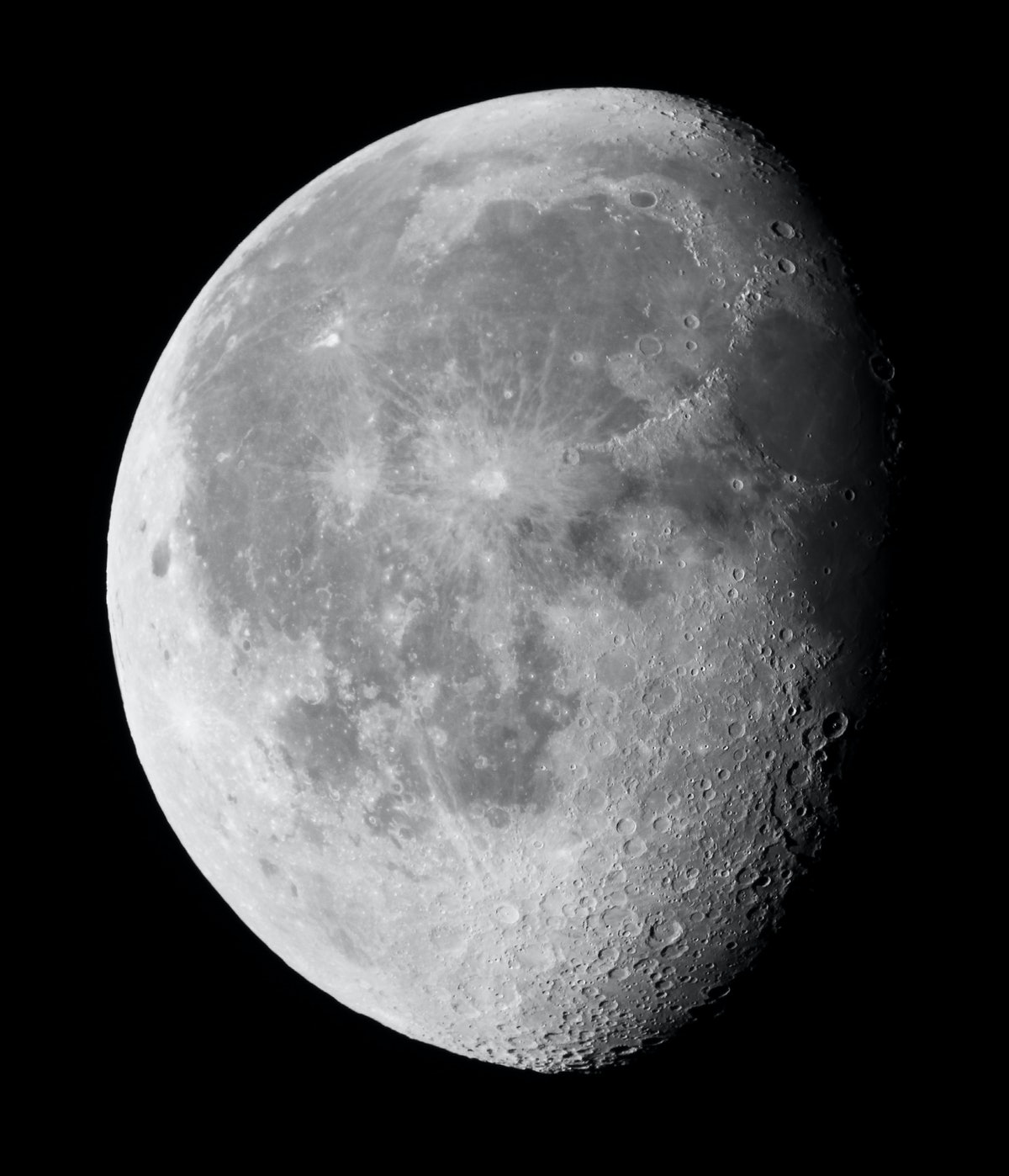 Waning gibbous moon, which is one of the eight moon phases.