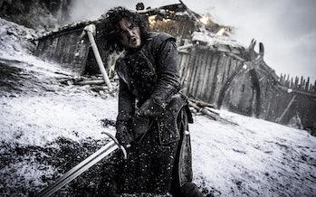 Kit Harington as Jon Snow at Hardhome on Game of Thrones
