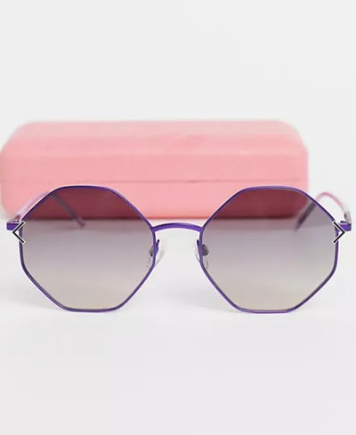 Love Moschino hexagon lens sunglasses