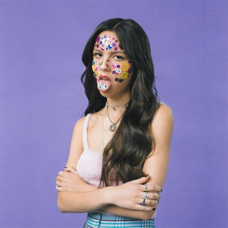 The cover of Olivia Rodrigo's 'SOUR.'