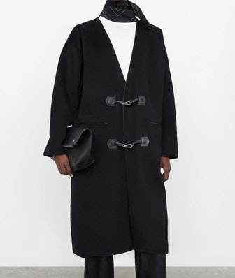 Clasp Coat Black