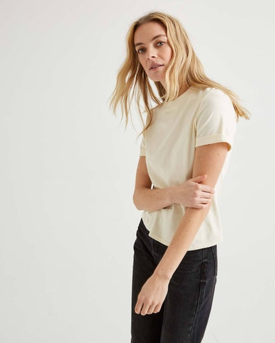 Women's Fitted Tee in White Sage