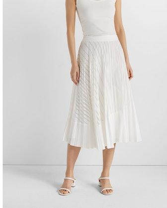 Burnout Pleated Skirt