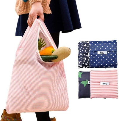 COCOMK Reusable Grocery Bags (6-Pack)