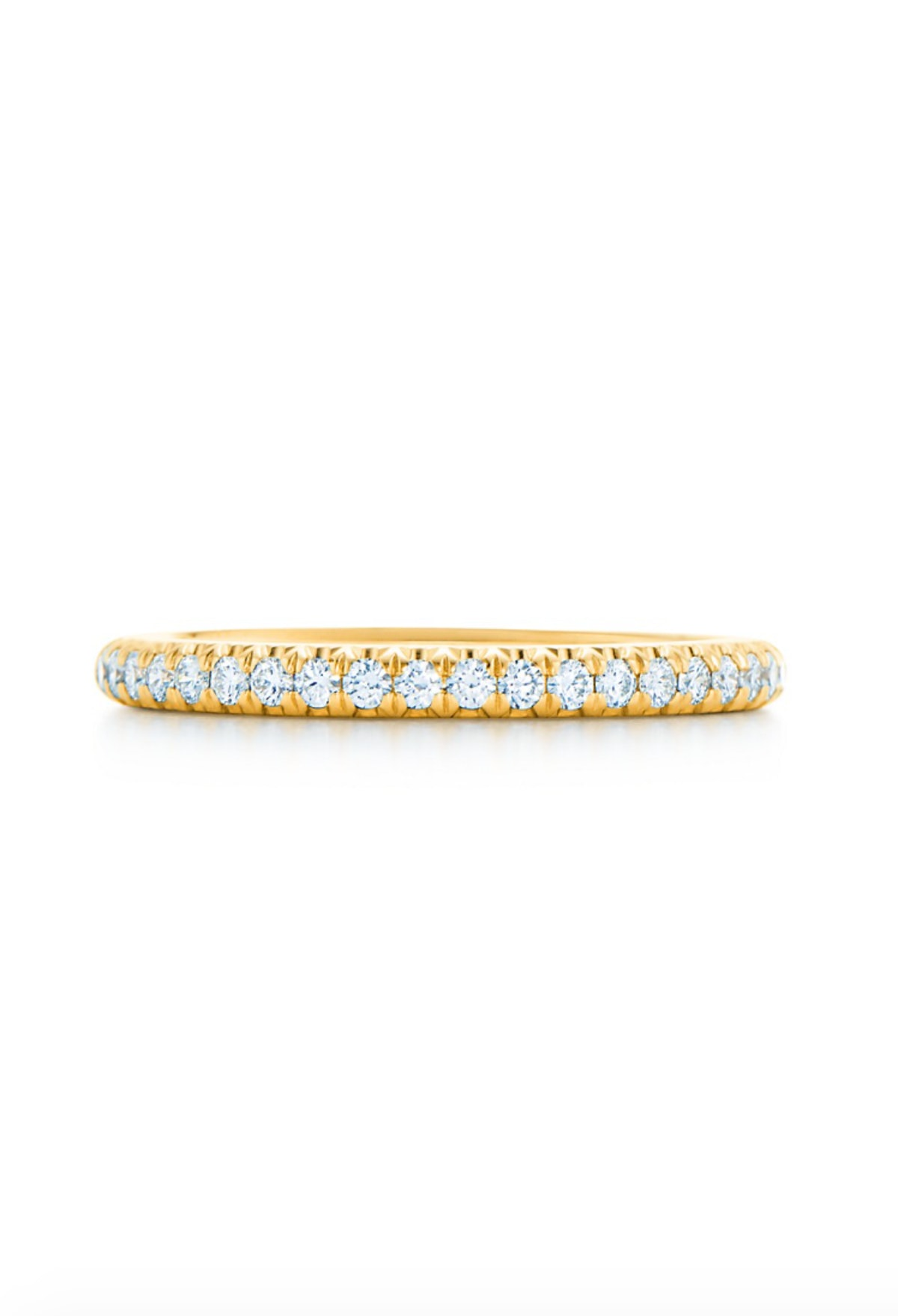 Half Eternity Ring In Yellow Gold With Diamonds