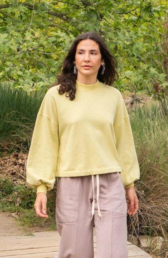 Recycled Cotton Puff Sleeve Sweatshirts