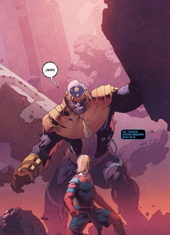 Thanos and the Eternals.