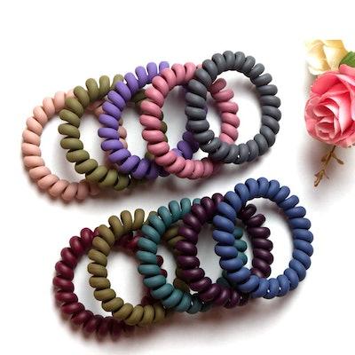 MAORULU Spiral Hair Ties (10-Pack)