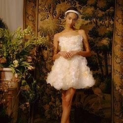 Model wearing Markarian wedding dress.