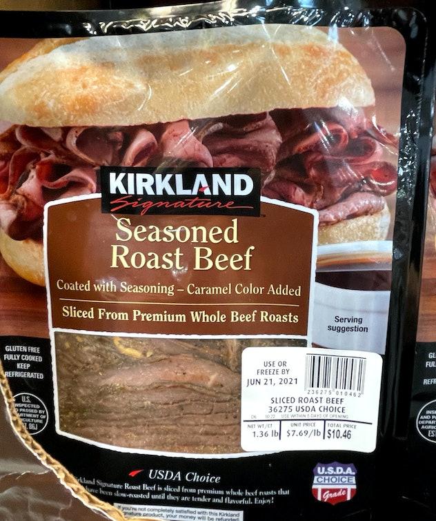 seasoned roast beef