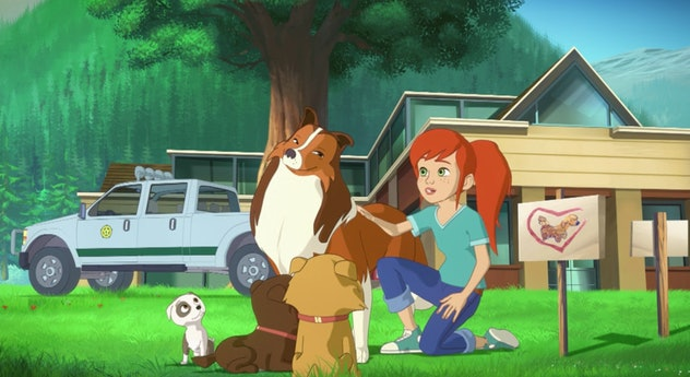 Lassie is an animated TV series based on the beloved movie, 'Lassie.'