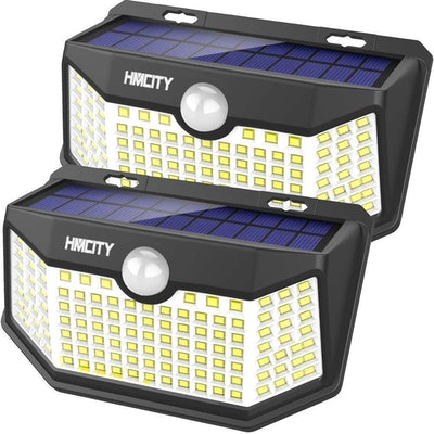 Hmcity Outdoor Security Solar Lights (2-Pack)