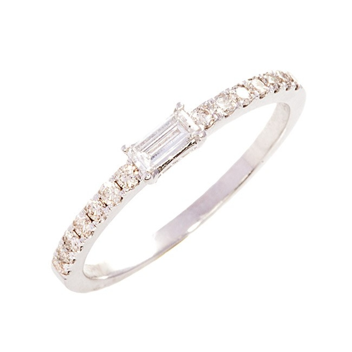 Diamond Baby Baguette Band Ring
