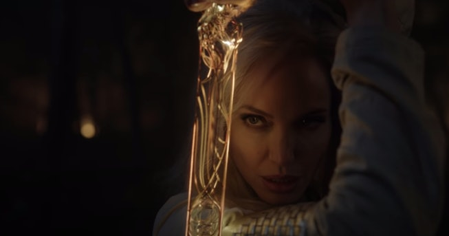 Angelina Jolie in Chloe Zhao's 'Eternals' first trailer.