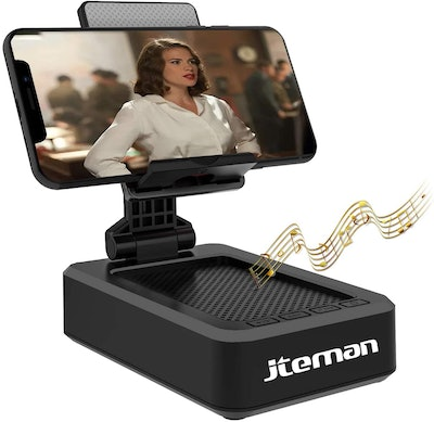 jteman Cell Phone Stand with Wireless Bluetooth Speaker