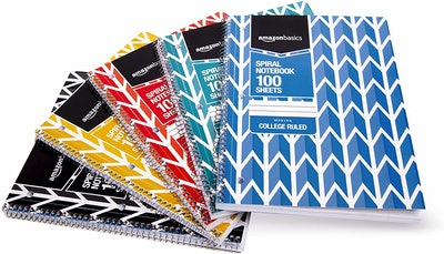 Amazon Basics Spiral Notebooks (5-Pack)