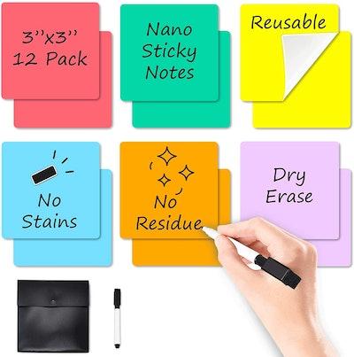 JJPRO Dry-Erase Sticky Notes (6-Pack)