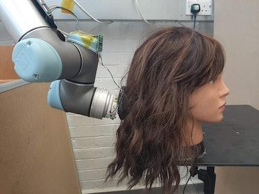 RoboWig hair brushing robot MIT