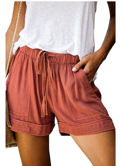 CILKOO Drawstring  Shorts