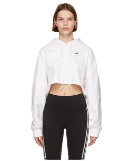 Adidas by Stella McCartney White Cropped Hoodie