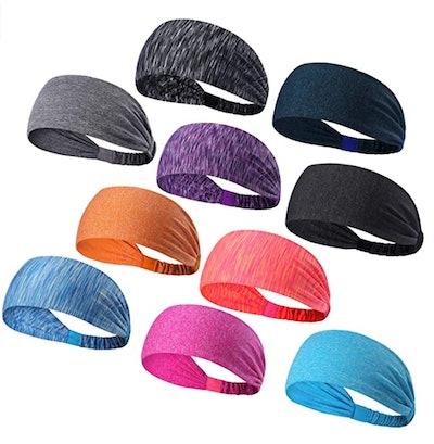 DASUTA Athletic Headbands (10-Pack)