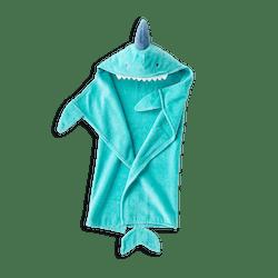 Baby Blue Shark Hooded Towel