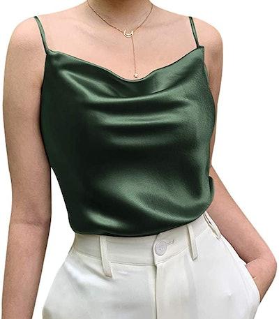 Miqieer Basic Silk Tank Top