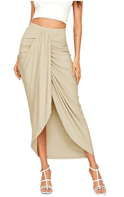 SheIn Slit Wrap Maxi Skirt