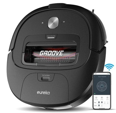 Eureka Groove 4-Way Control Robotic Vacuum Cleaner with Anti-Scratch Brush Roll