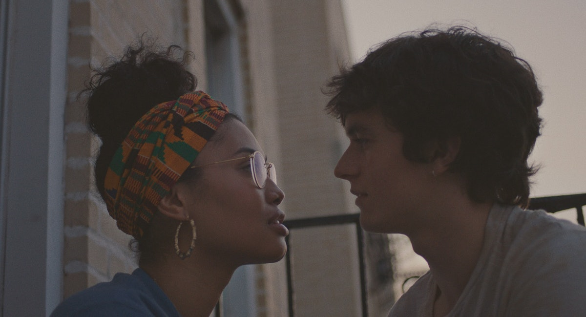 Leyna Bloom as Wye and Fionn Whitehead as Paul in the drama Port Authority.