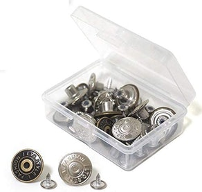 Wjpophn Replacement Jean Buttons (20-Sets)
