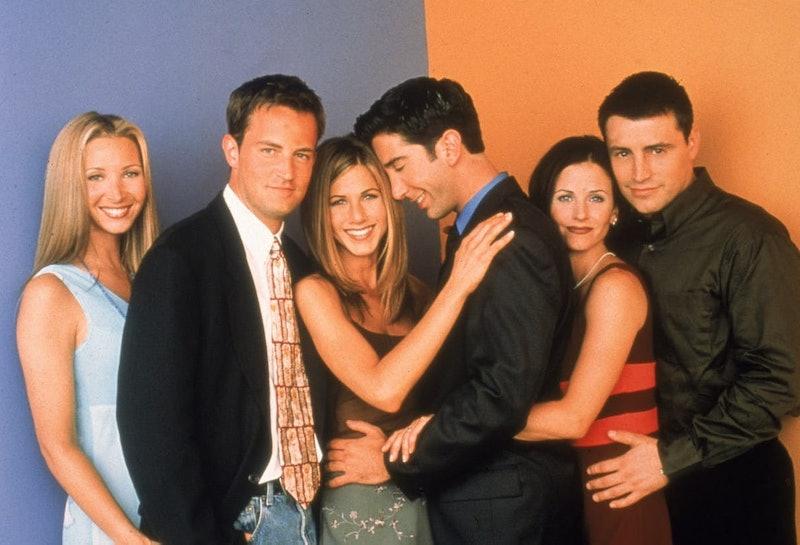Lisa Kudrow as Phoebe Buffay, Matthew Perry as Chandler Bing, Jennifer Aniston as Rachel Green, David Schwimmer as Ross Geller, Courteney Cox as Monica Geller, Matt LeBlanc as Joey Tribbiani.