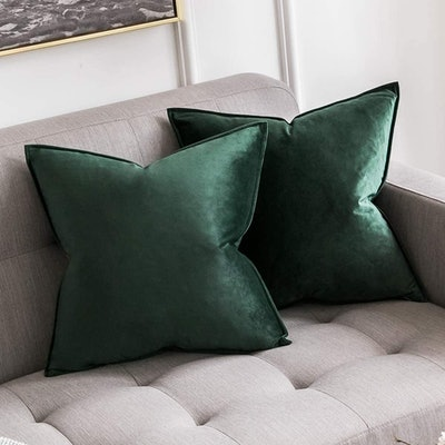 MIULEE Decorative Velvet Throw Pillow Cover (Pack of 2)