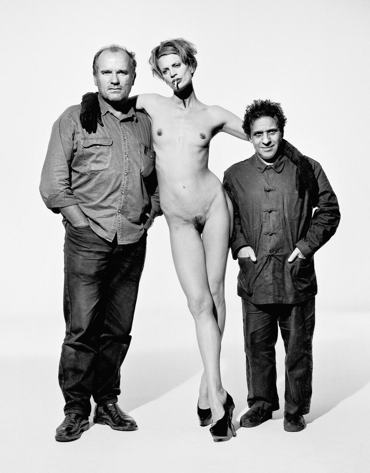 Peter Lindbergh, Kristen McMenamy, and Azzedine Alaïa