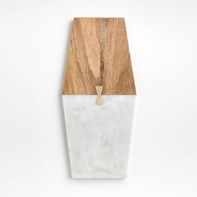 Salvia Wide Nesting Marble and Wood Cheese Board