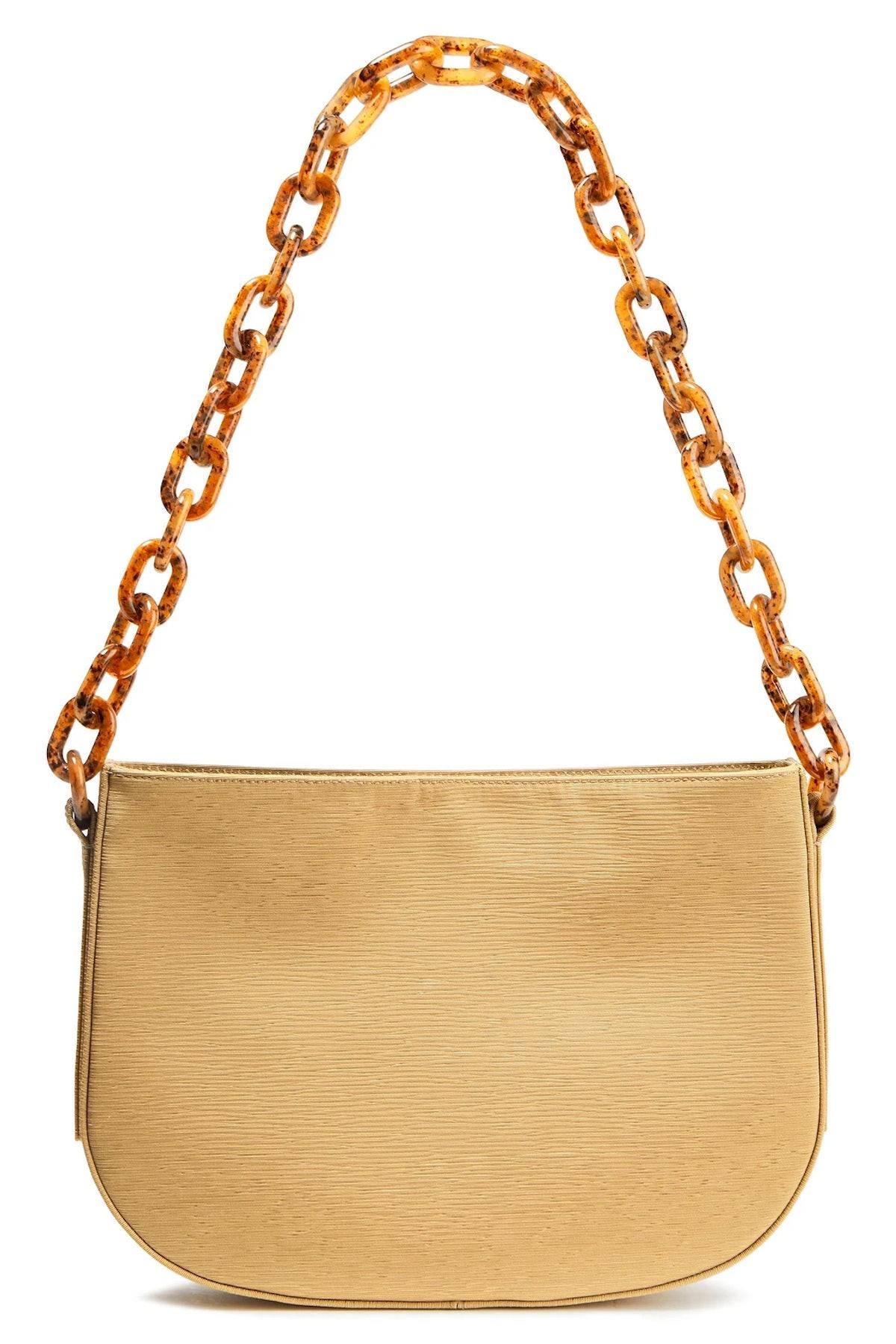 Pelle Plissé-Woven Shoulder Bag