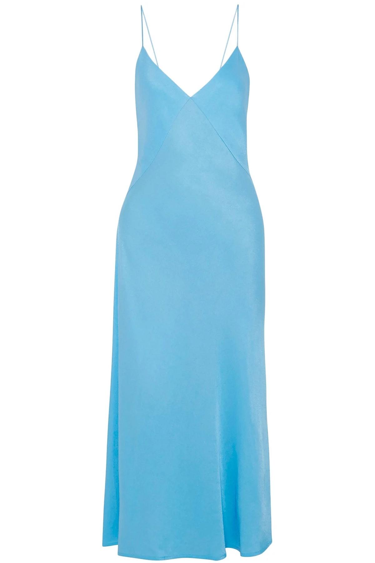 Satin Crepe Midi Dress
