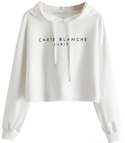 Romwe Print Sweatshirt