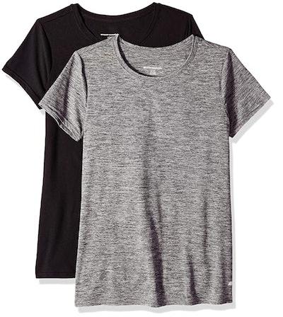 Amazon Essentials Tech Stretch Short-Sleeve Crewneck T-Shirts (2-Pack)