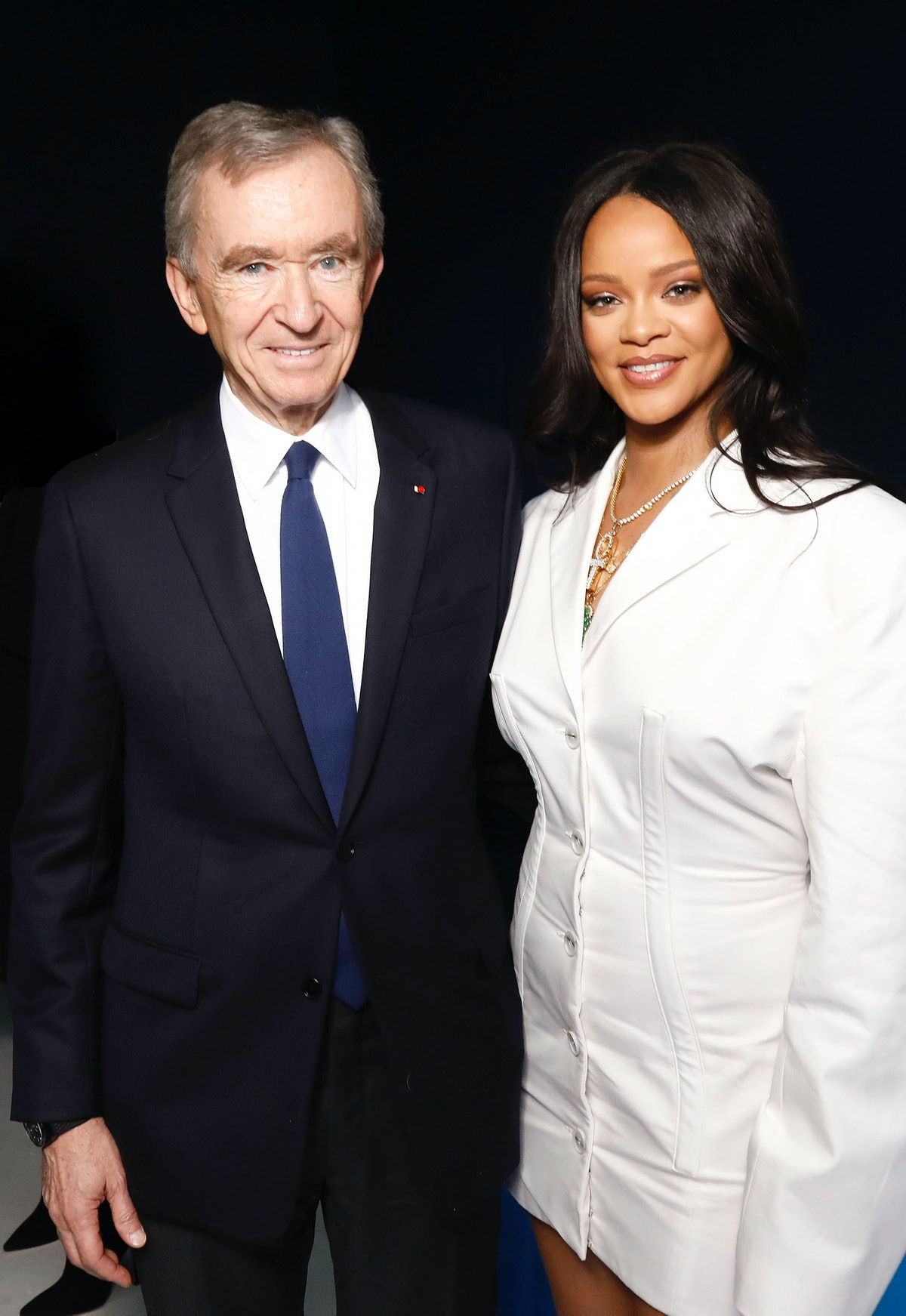 Bernard Arnault and Rihanna