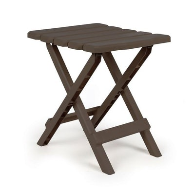 Camco Adirondack Portable Outdoor Folding Side Table, Perfect for The Beach, Camping, Picnics, Cookouts and More