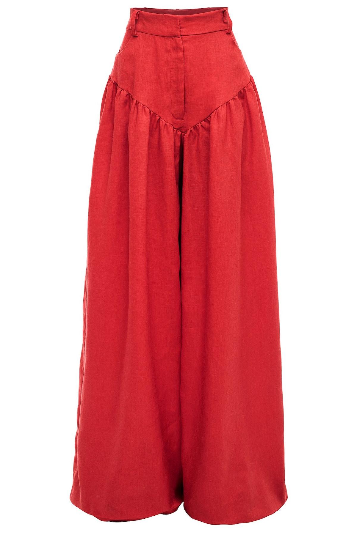 Red Rasta Linen Pant