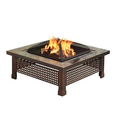 """Axxonn 34"""" Tuscan Ceramic Tile Top Fire Pit"""