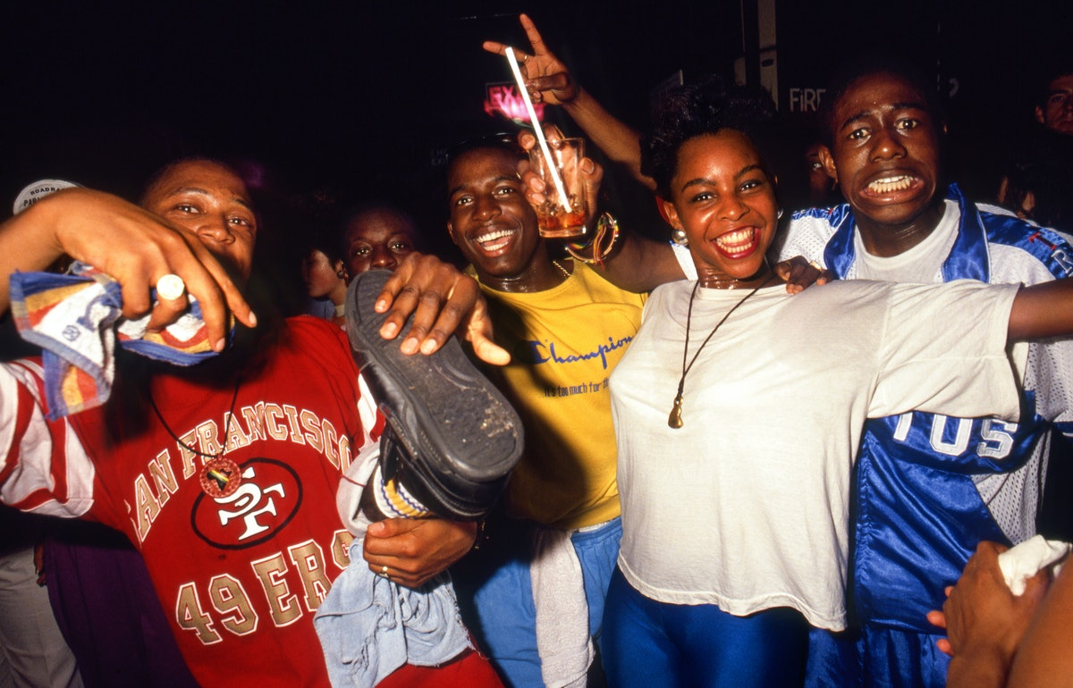 A night at the Fridge, London, 1989.