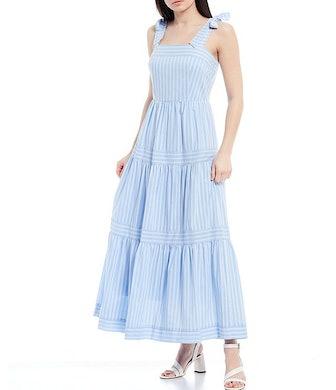 Stripe Tie-Shoulder Dress