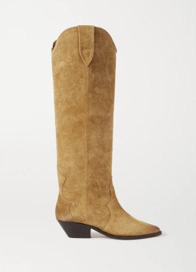 Denvee Suede Knee Boots